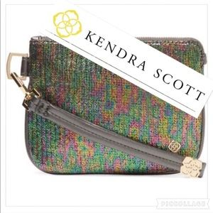 Kendra Scott metallic Wristlet